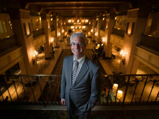 Scott Streiner, Canadian Transportation Agency Chair and CEO, at Toronto's Royal York Hotel.
