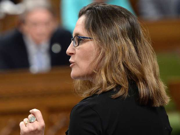 Trade minister Chrystia Freeland is in Japan this week — along with Prime Minister Justin Trudeau — ahead of a summit of G7 industrialized nations, which begins on Thursday.