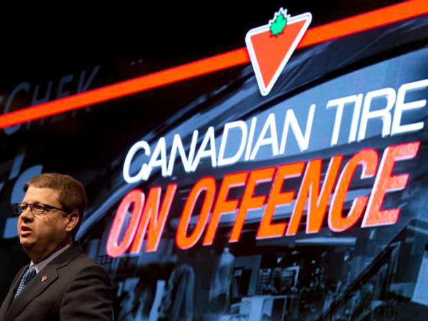 Canadian Tire President and CEO Michael Medline speaks during the annual general meeting of shareholders.