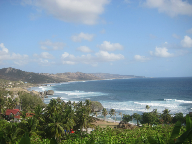 The fishing village of Bathsheba faces the Atlantic Ocean on the east coast of Barbados.