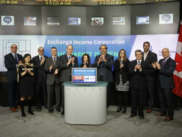 Exchange Income Corporation opens the market to celebrate eight years as a Toronto Stock Exchange listed company.