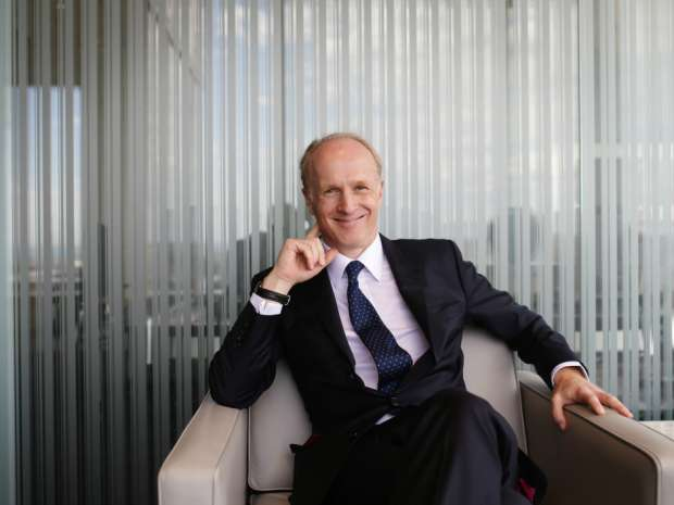 Incoming CPP Investment Board CEO Mark Machin poses following a press announcement in their Toronto office
