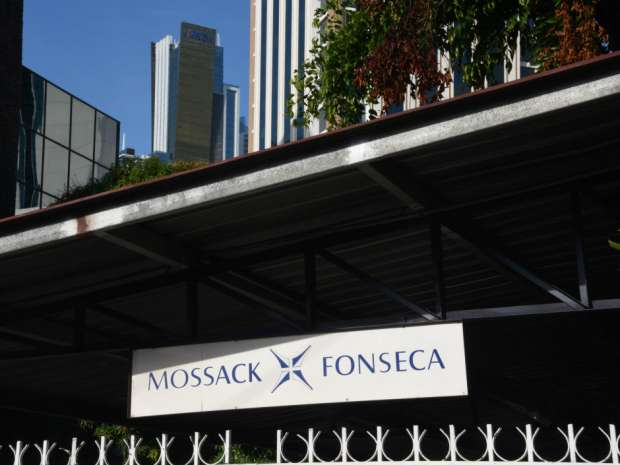 View of the facade of the building where Panama-based Mossack Fonseca law firm offices are in Panama City.