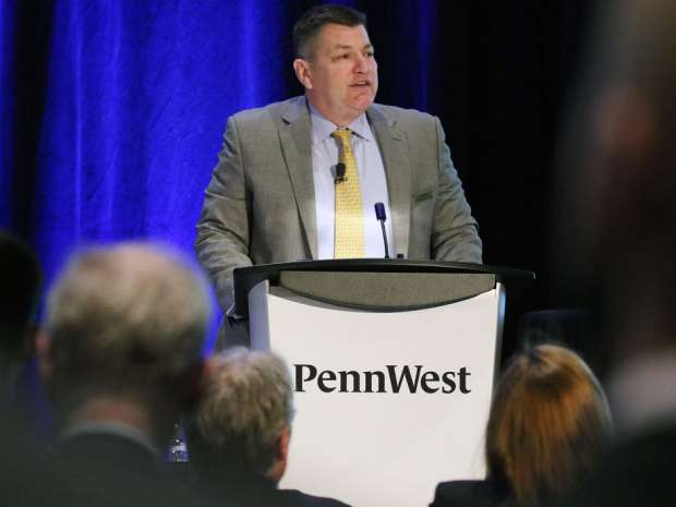 Penn West CEO Dave Roberts at the company's AGM last week. Penn West says it was in compliance with all its debt covenants as of the end of the first quarter, but the risk of default has created uncertainty about Penn West's ability to continue as a going concern.