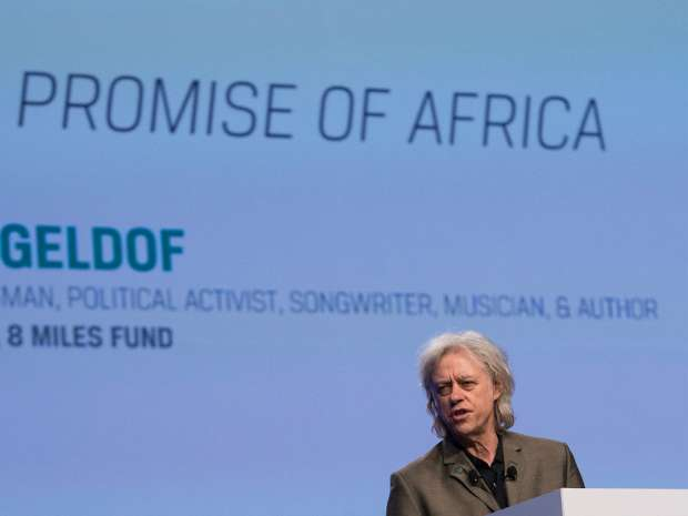 Bob Geldof, the businessman, political activist and songwriter who made his name raising charity aid, said he was pressured to try private equity as a way of making an impact.