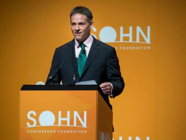 David Einhorn, president of Greenlight Capital Inc., speaks during the 21st annual Sohn Investment Conference in New York, U.S.