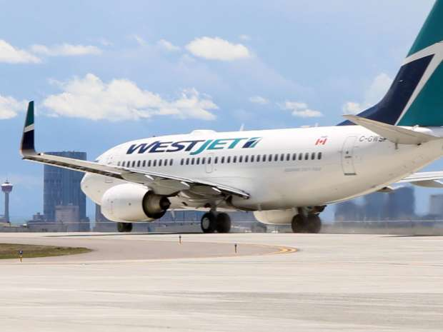 Canada's WestJet Airlines Ltd. reported a higher-than-expected quarterly profit, helped by lower fuel costs.