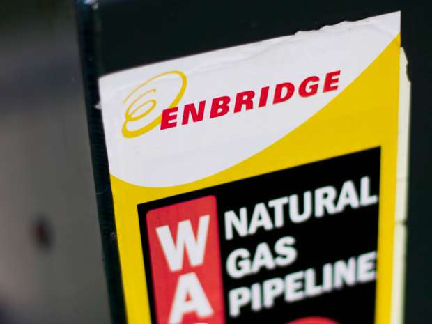 Enbridge Energy Partners LP is looking at a possible sale of its main natural gas business in the United States.