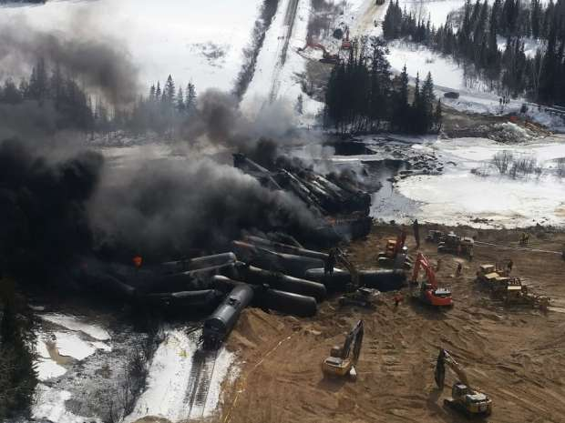 Three trains derailed along one 476 km section of CN Rail track in northern Ontario in February and March last year, with the third spilling crude oil in and around a river near the town of Gogama.